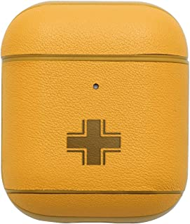 NBFU US ARMY GERMAN LUFTWAFFE MILITARY AIRCRAFT WW2 (RETRO YELLOW) ENGRAVED Air Pods Protective Leather Case Cover - a new class of luxury to your AirPods - Premium PU Leather and handmade exquisitely