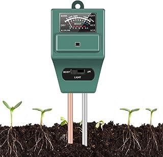 Soil Moisture Sunlight Ph Test Meter,Soil Tester Meter, 3-in-1 Test Kit for Moisture, Light and pH, for Home and Garden, L...