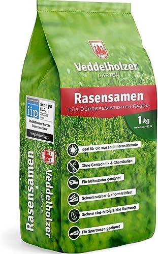 Sémences pour gazon Veddelholzer, résistants à la sécheresse, pour les gazons secs et ombragés, graines de gazon à ge...