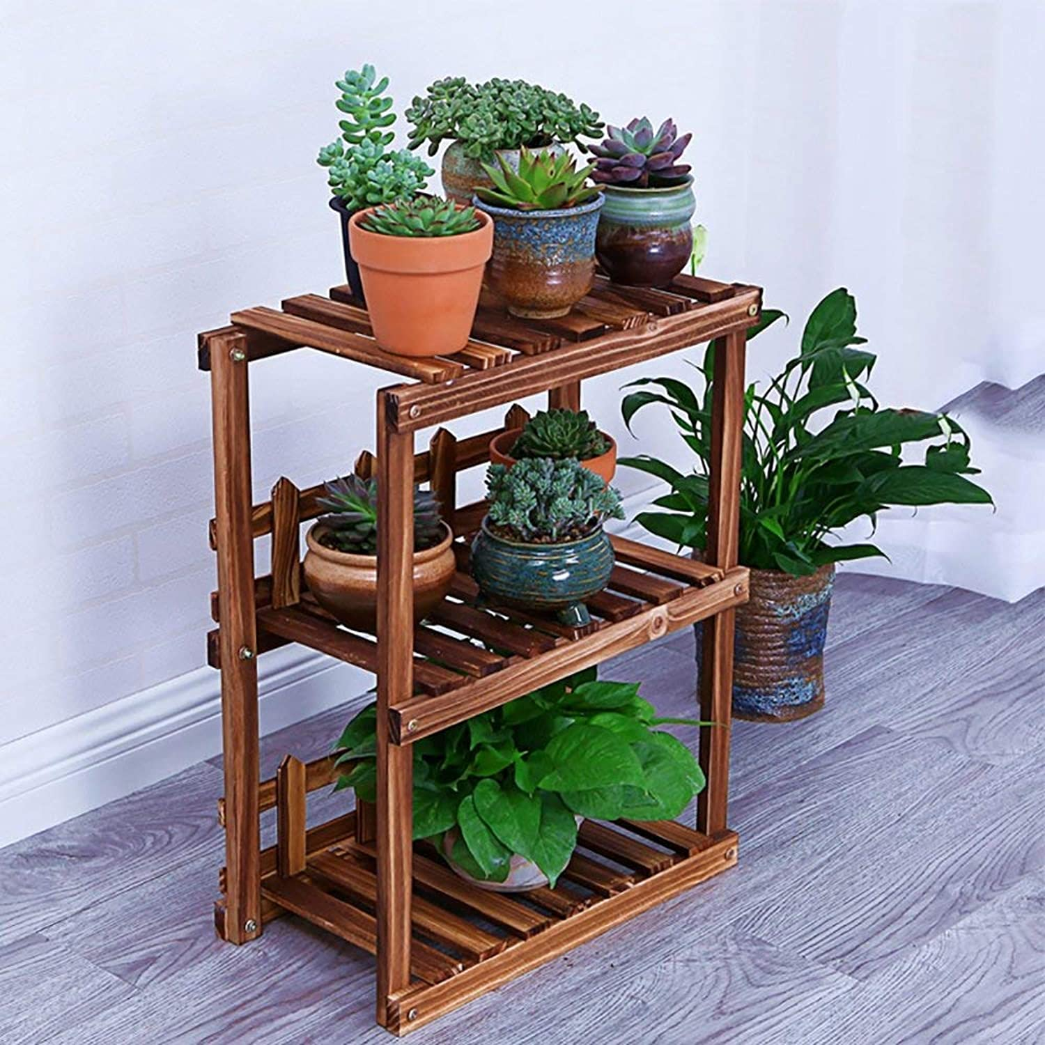 Shelves Organizer for Books Bookcase Bookshelf Ends Flower Stand Shelf Multi-Layer Combination Floor-Standing Plant Stand Indoor Living Room Outdoor Succulents Flower Pot Shelf Strong Sturdy, QiXian