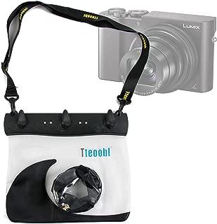 DURAGADGET Black Water-Resistant Camera Case for New Panasonic Lumix TZ80, Lumix TZ100/SZ100, Lumix DMC-ZS60/TZ60, Lumix DMC-ZS100 - with Zoom Lens Compartment