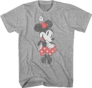 Disney Shy Minnie Mouse Graphic Tee Classic Vintage Disneyland World Mens Adult T-Shirt Apparel