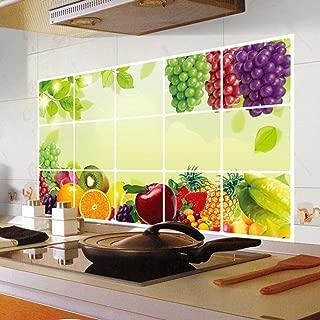 OHQ Pegatina De Pared Palo De Fruta Pegatinas De Pared ExtraíBle A Prueba De Aceite De La DecoracióN Del Arte Home Decor Etiqueta (Multicolor)