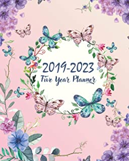 2019-2023 Five Year Planner: Butterfly Cover 60 Months Planner and Calendar Agenda And Organizer 8
