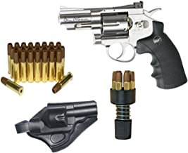 Dan Wesson Licensed ASG .177 Caliber CO2 BB Airgun Revolver Starter Packages - Includes 25 Extra Cartridges/Shells and Holster - 2.5