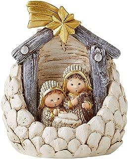 Acorn Holy Family Nativity Scene Figurine, 3 1/2 Inch