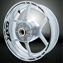 Gloss Black Motorcycle Rim Wheel Decal Accessory Sticker For Suzuki GSR
