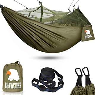 Camping Hammock with Mosquito Net - Lightweight COVACURE Double Hammock, Portable Hammocks for Indoor,Outdoor, Hiking, Cam...
