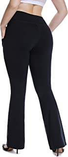 Plus Size Dress Yoga Pants High Waisted Stretch Bootcut Flared Leg Pants for Workout Work XL 2X 3X 4X