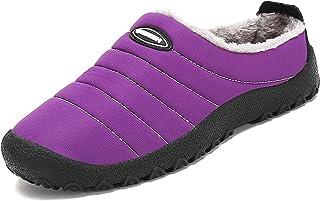 488ea4925ce SAGUARO® Invierno Al Aire Libre Zapatillas Caliente Slippers Interior Suave  Algodón Zapatilla Mujer Hombres Casa