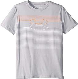 Stripe Logo Short Sleeve (Big Kids)