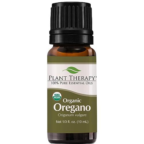 Plant Therapy Oregano Organic Essential Oil 100% Pure, USDA Certified Organic, Undiluted, Natural Aromatherapy, Therapeutic Grade 10 mL (1/3 oz)