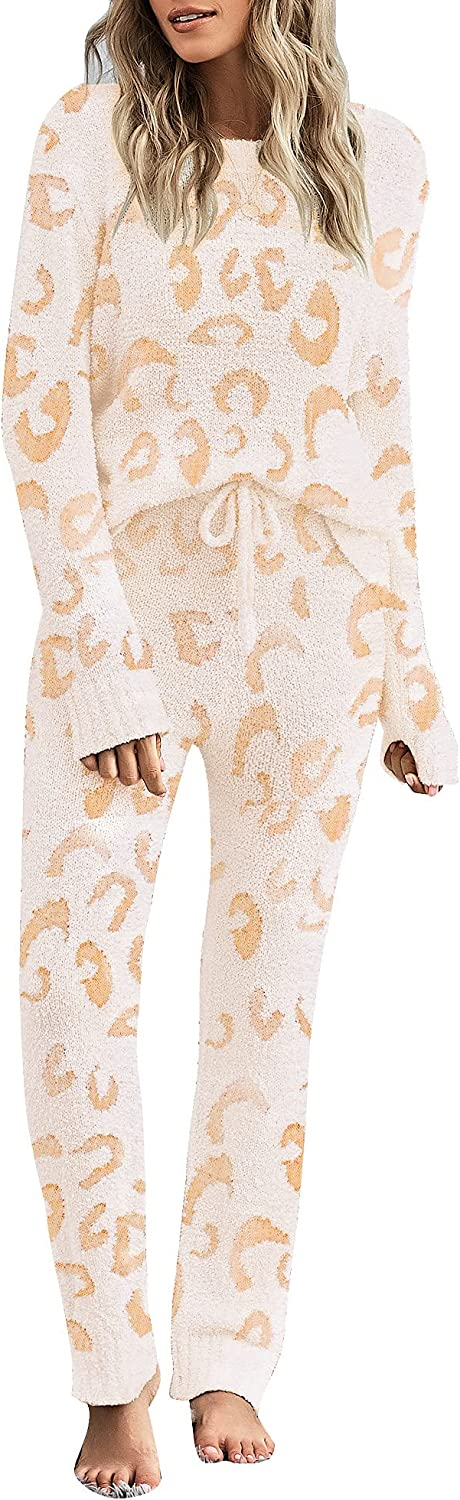 LookbookStore Women Casual Long 35% OFF Sleeve Top Sets Pants PJ Memphis Mall Kni and