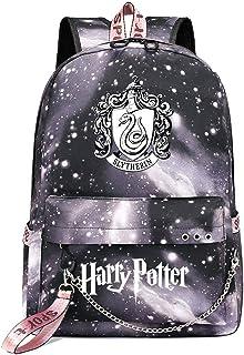 Mochila de Ocio para Estudiantes de Hogwarts, Mochila Harry Potter Grey Starry Sky, con Mochila de Interfaz de Carga USB style-16