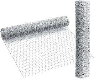 Brave Tour Chicken Wire Net for Craft Projects-13.7 x 157 Inches Galvanized Hexagonal Wire Neting,Light Weight Wire Mesh for Craft Projects Art,Handwork use