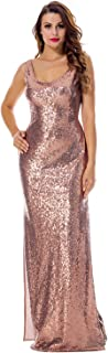 Women's Fashion Sequins High Split Sexy Party Club Long Dress Bridesmaid Dress Prom/Evening Gowns