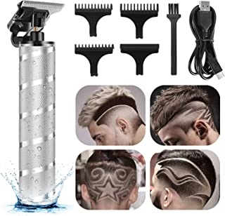 Electric Pro Li Hair Clippers Cordless Hair Trimmer Waterproof T-Blade 0mm Zero Gap Close Cutting Grooming Kits for Men Ba...