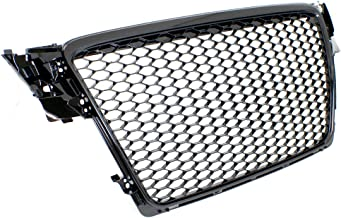 PROMOTORING For 09-12 Audi A4/S4 (B8) RS4 Style Main Upper Euro Mesh Grille - Gloss Black