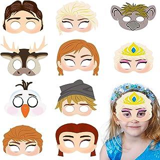BeYumi 20 Packs Frozen Theme Masks Set - Elsa Anna Princess Snow Queen Dress Up Costume Masks, Cosplay Pretend Play Masks ...