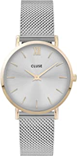 Cluse Women's Minuit 33mm Steel Bracelet & Case Quartz Silver-Tone Dial Analog Watch CW0101203015