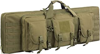 Fox Tactical 38 42 Inch Double Long Rifle Gun Case Bag Outdoor Tactical Carbine Cases Water Dust Resistant Fireproof for Hunting Shooting Storage Transport. (O.D. Green, 38IN)
