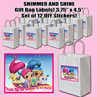 Shimmer and Shine Party Favors Supplies Decorations Gift Bag Label STICKERS ONLY 3.75