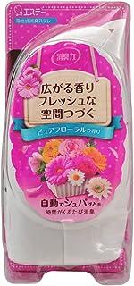 消臭力 自動でシュパッと 電池式消臭スプレー 消臭芳香剤 部屋 部屋用 本体 ピュアフローラルの香り 39mL