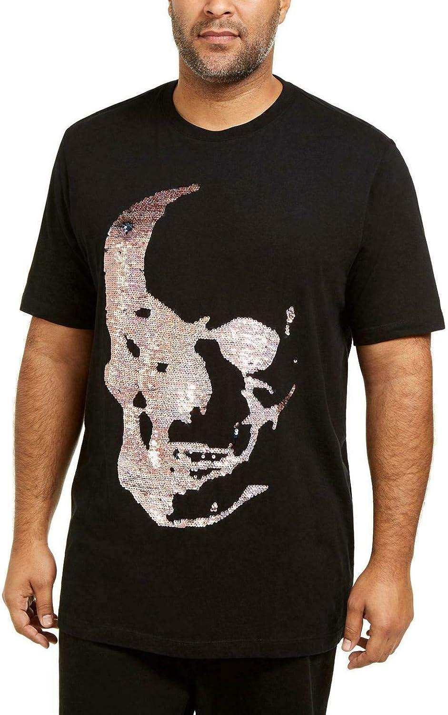 INC Mens Black Short Sleeve Classic Fit Casual Shirt 3XL Tall