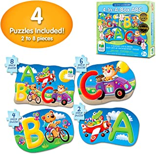 The Learning Journey My First 4-In-A-Box Puzzle – ABC – Educational Toddler Toys & Gifts for Boys & Girls Ages 2 & Up – Award Winning Puzzle