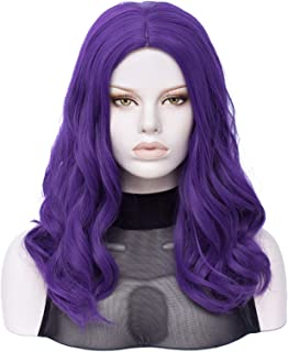 Hairpieces Cosplay Wig Women Purple Big Wavy Long Curly Middle Part Line Hair Synthetic Wig Heat-resistant Rose Net Hair E...