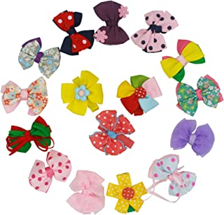 Hair Bows for Baby Girls Alligator Clips Hair Barrettes Accessory for Babies Infant Toddlers Kids Colorful 16PCS