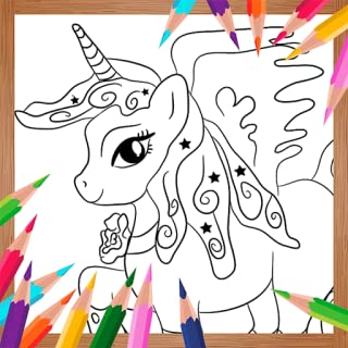 Coloring Book For Unicorn