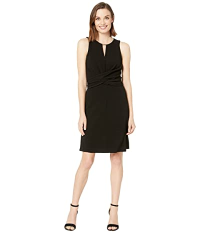 MICHAEL Michael Kors Twist Front Dress (Black) Women