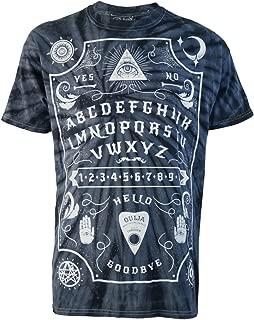 Darkside Clothing Ouija Board Grey Tie-Dye Mens T-Shirt