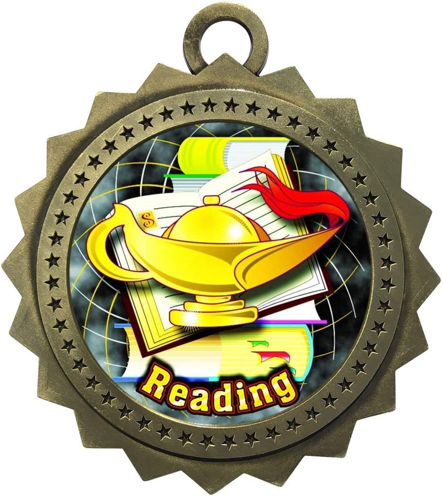 Express All items free shipping Medals Large Omaha Mall 3 Inch Scholastic N Medal Reading with Gold