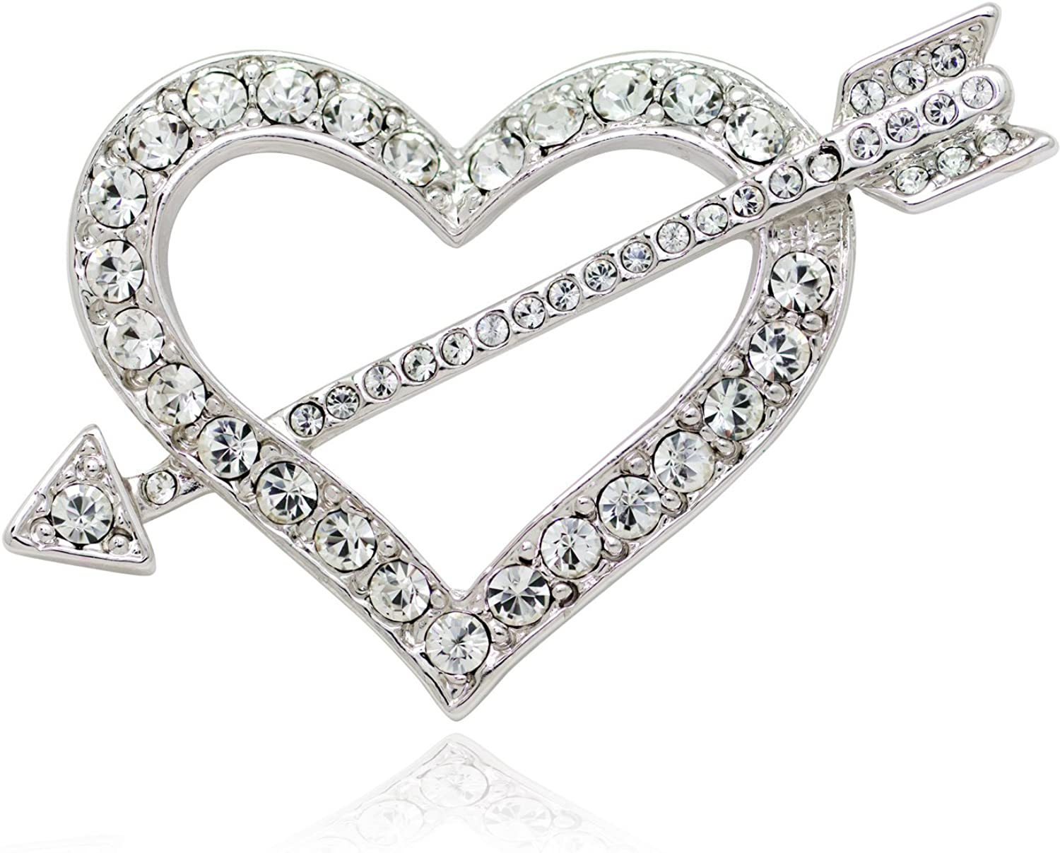 Akianna Gold-tone Swarovski Los Angeles Mall Element Heart and Crystals Valentine Free Shipping Cheap Bargain Gift