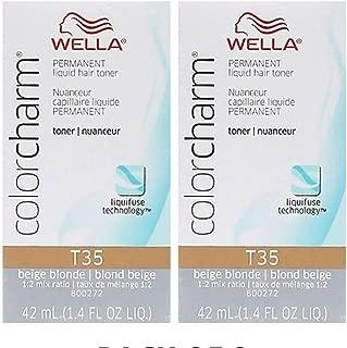 Wella Color Charm Hair Toner T35 Beige Blonde 1.4 oz (2 Pack)