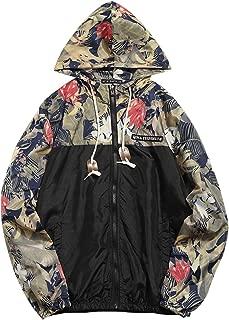 Best floral printed patchwork hooded jacket Reviews