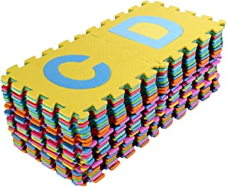 Balakie Large Alphabet Numbers DIY Floor Play Mat Baby Room Jigsaw ABC Foam Puzzle Area Rugs Kids Room Safe Carpet 36pcs(Multicolor,6.1x6.1 inch)