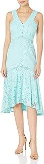 Taylor Dresses Women's Sleeveless Hi-Low Floral Lace Dress