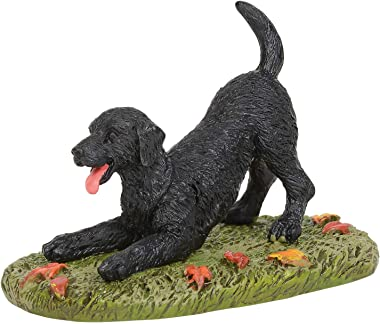 Department 56 Village Cross Product Accessories Playful Black Lab Figurine, 1.75 Inch, Multicolor