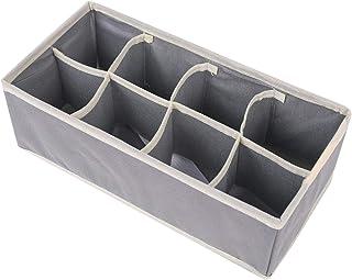 FunSpt Foldable Fabric Closet Underwear Organizer Drawer Divider Dresser Organizer Storage Box,12 x 6 x 3.8 in, 8 Cells