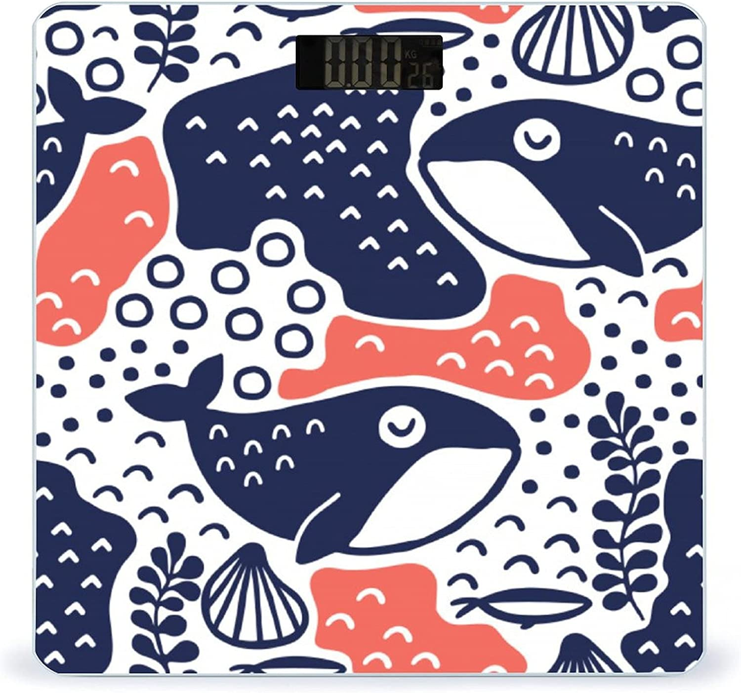 Ranking TOP2 Max 59% OFF CHUFZSD Whale Pattern Highly Accurate Scale Weight Smart Fitness