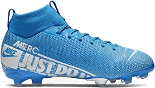 Jr. Mercurial Superfly 7 Academy MG Kids' Multi-Ground Soccer Cleat (4, Blue Hero/Obsidian/White)