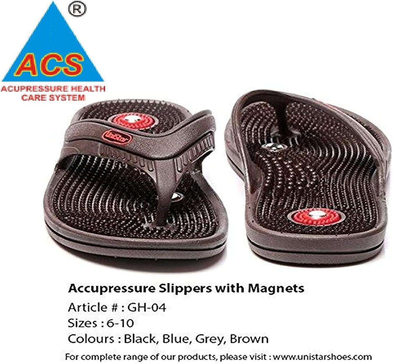 Acupressure Health autoe System Uniestrella pantofole con magneti, (5)