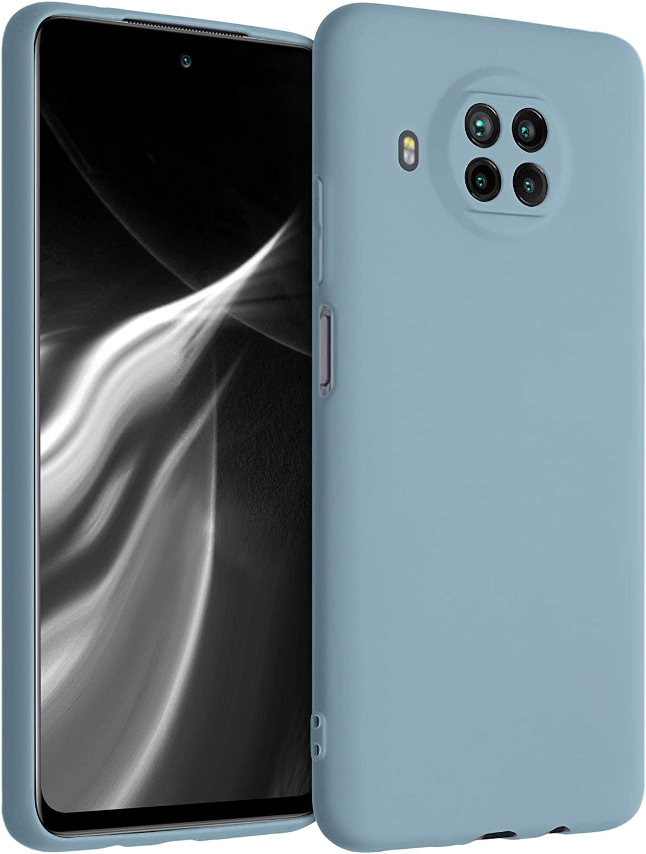 kwmobile Carcasa para Xiaomi Mi 10T Lite - Funda para móvil en TPU Silicona - Protector Trasero en Gris frío