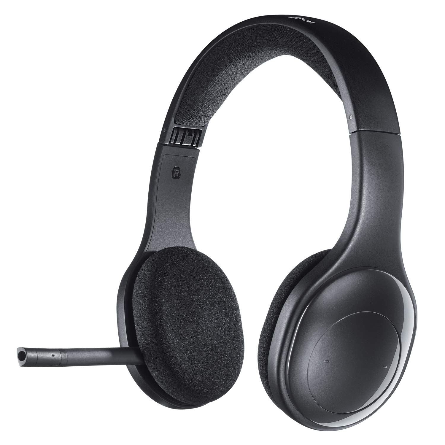 Amazon Com Logitech H800 Bluetooth Wireless Headset With Mic For Pc Tablets And Smartphones Black Electronics