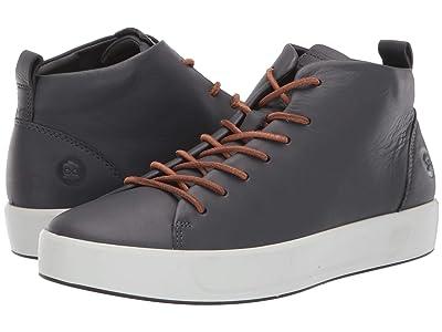 ECCO Soft 8 Dritantm Mid Cut Sneaker (Magnet) Men