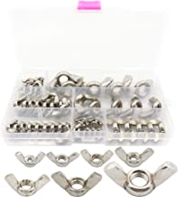 StainlessTown 18-8 Stainless Steel Wing Nut Assortment Kit  6-32 to 1//2-13