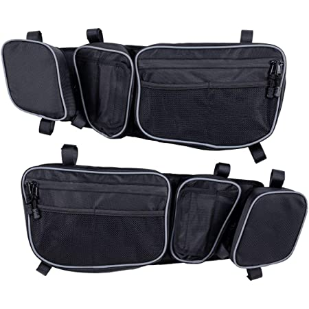 Lesiyou Front Upper Door Bags for Can Am Maverick X3 XDS XDS Turbo R with Removable Knee Pad